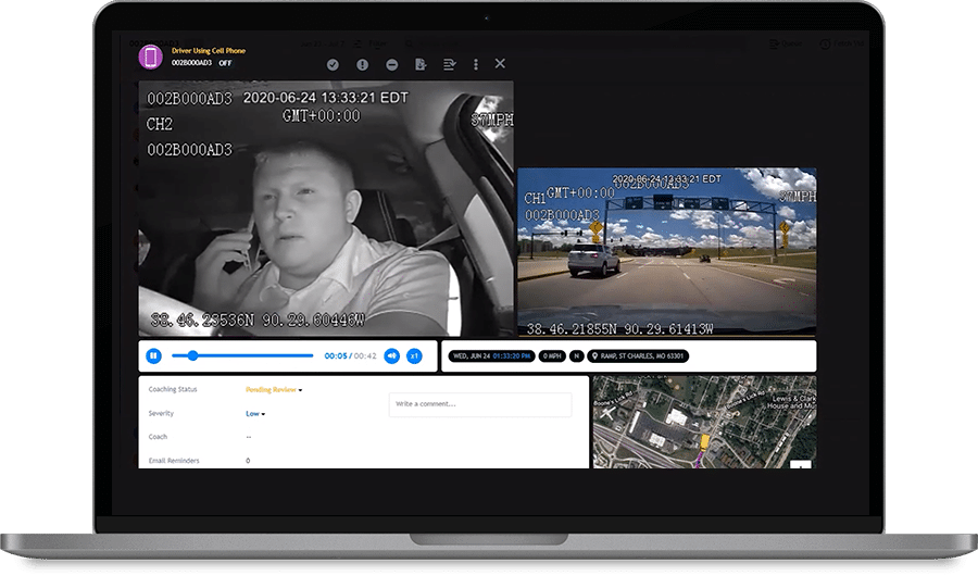 FleetCam displays fleet camera system
